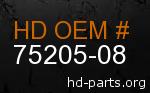 hd 75205-08 genuine part number