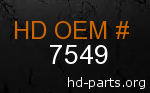 hd 7549 genuine part number
