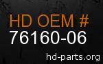 hd 76160-06 genuine part number