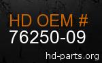 hd 76250-09 genuine part number