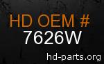 hd 7626W genuine part number