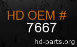 hd 7667 genuine part number