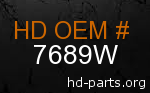 hd 7689W genuine part number