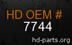 hd 7744 genuine part number