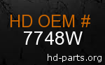 hd 7748W genuine part number