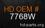 hd 7768W genuine part number