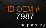 hd 7987 genuine part number