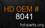 hd 8041 genuine part number