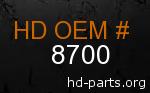 hd 8700 genuine part number