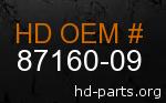 hd 87160-09 genuine part number