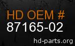 hd 87165-02 genuine part number