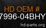 hd 87996-04BHY genuine part number