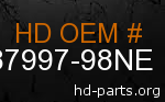 hd 87997-98NE genuine part number
