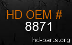 hd 8871 genuine part number