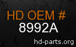 hd 8992A genuine part number
