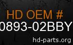 hd 90893-02BBY genuine part number