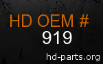 hd 919 genuine part number