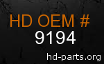 hd 9194 genuine part number