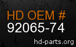 hd 92065-74 genuine part number