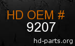 hd 9207 genuine part number