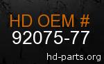 hd 92075-77 genuine part number