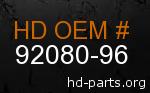 hd 92080-96 genuine part number