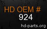 hd 924 genuine part number