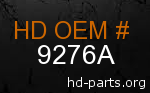 hd 9276A genuine part number