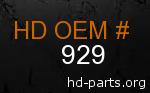 hd 929 genuine part number