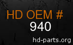 hd 940 genuine part number