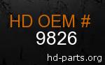 hd 9826 genuine part number