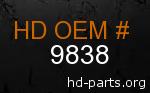 hd 9838 genuine part number