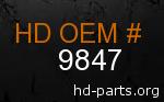 hd 9847 genuine part number