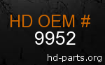 hd 9952 genuine part number