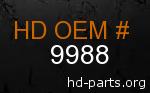 hd 9988 genuine part number