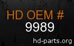 hd 9989 genuine part number