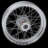 "Laced Chrome Rear Wheel, 16"" x 3"""