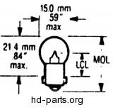 V-Twin Manufacturing Hi-Beam Indicator Bulb