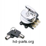 J&P Cycles® Chrome Side Hinge Ignition Switc